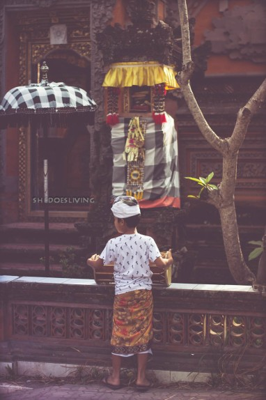 Small Child Making Offering, Bali
