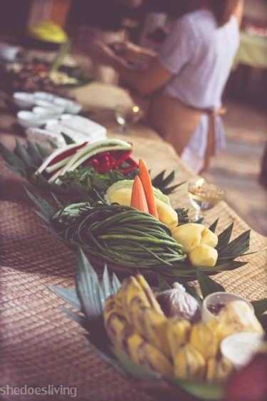 Food display, Ubud Bali