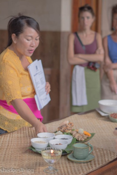 Puspa, Paon School of Cooking, Bali