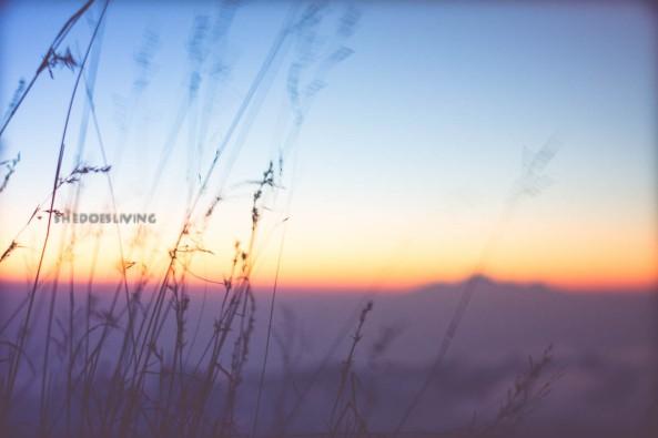 The sun creeping up, Mount Batur