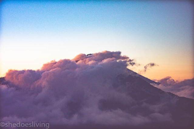 Top View from Mount Batur